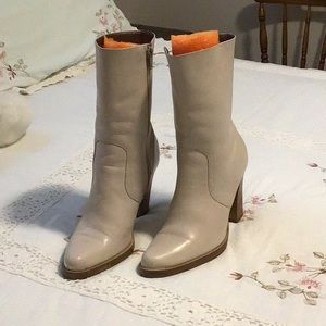 Winter white ankle boots.